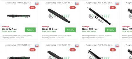 Амортизаторы на выгодных условиях от магазина ukrparts.com.ua